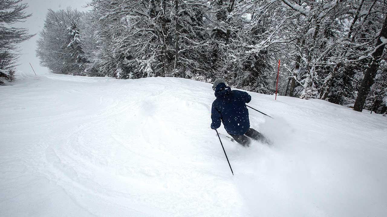 Ski en forêt à Barèges au Grand Tourmalet