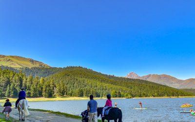 Randonnée en famille au lac de Payolle