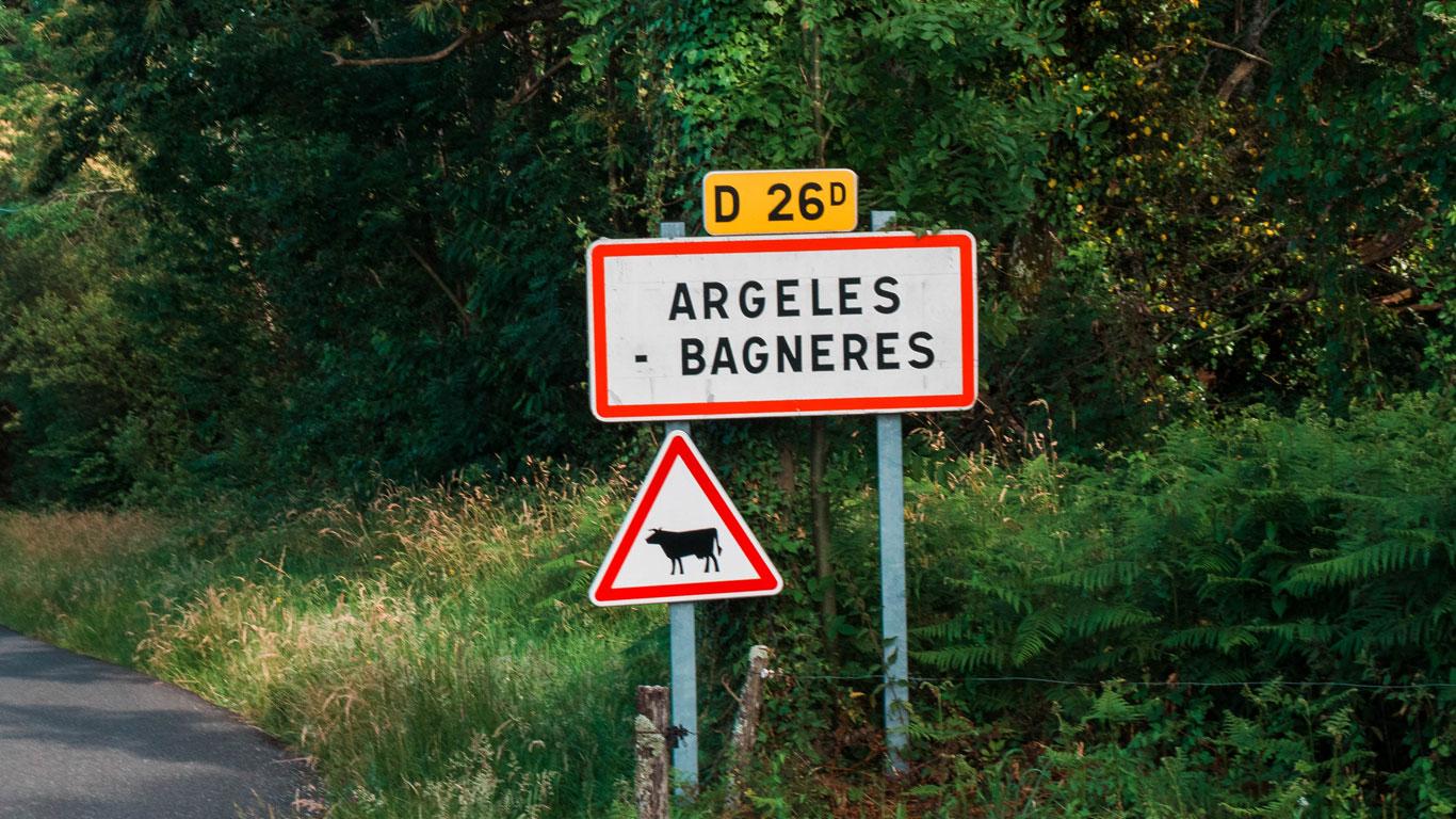 Argelès Bagnères Panneau