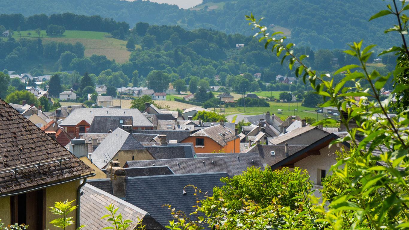 Le village de Gerde dans son ensemble