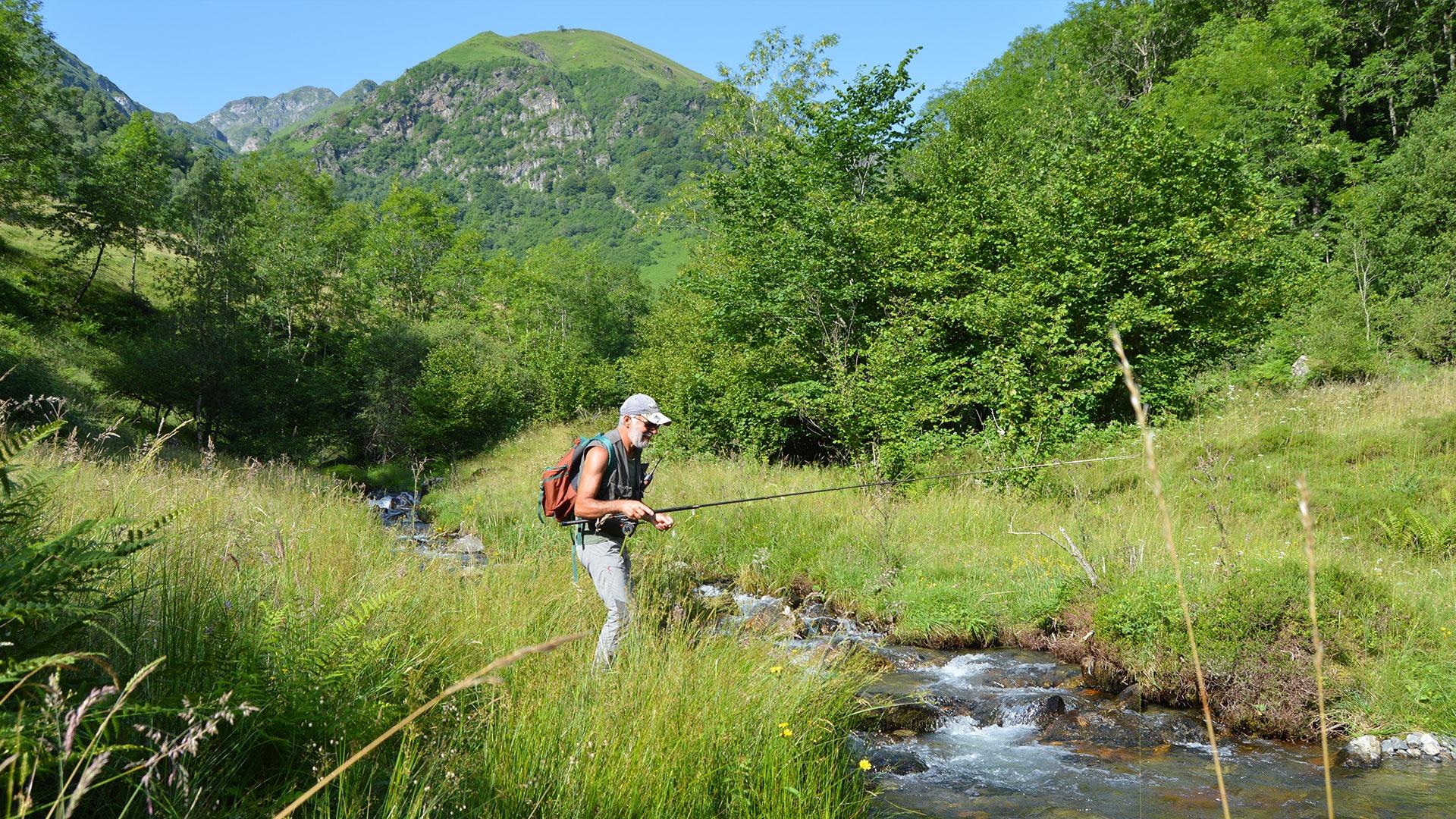 pêcheur à Campan
