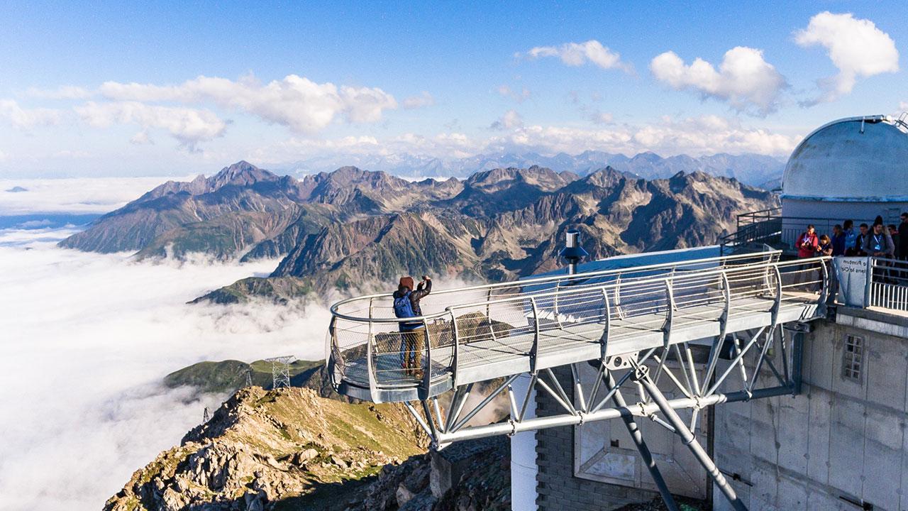 Le ponton dans le ciel au Pic du Midi de Bigorre