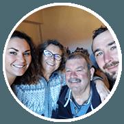 Elodie, Yannick et la famille Waegebaert