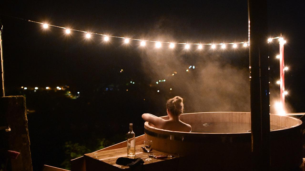 bain nordique de nuit
