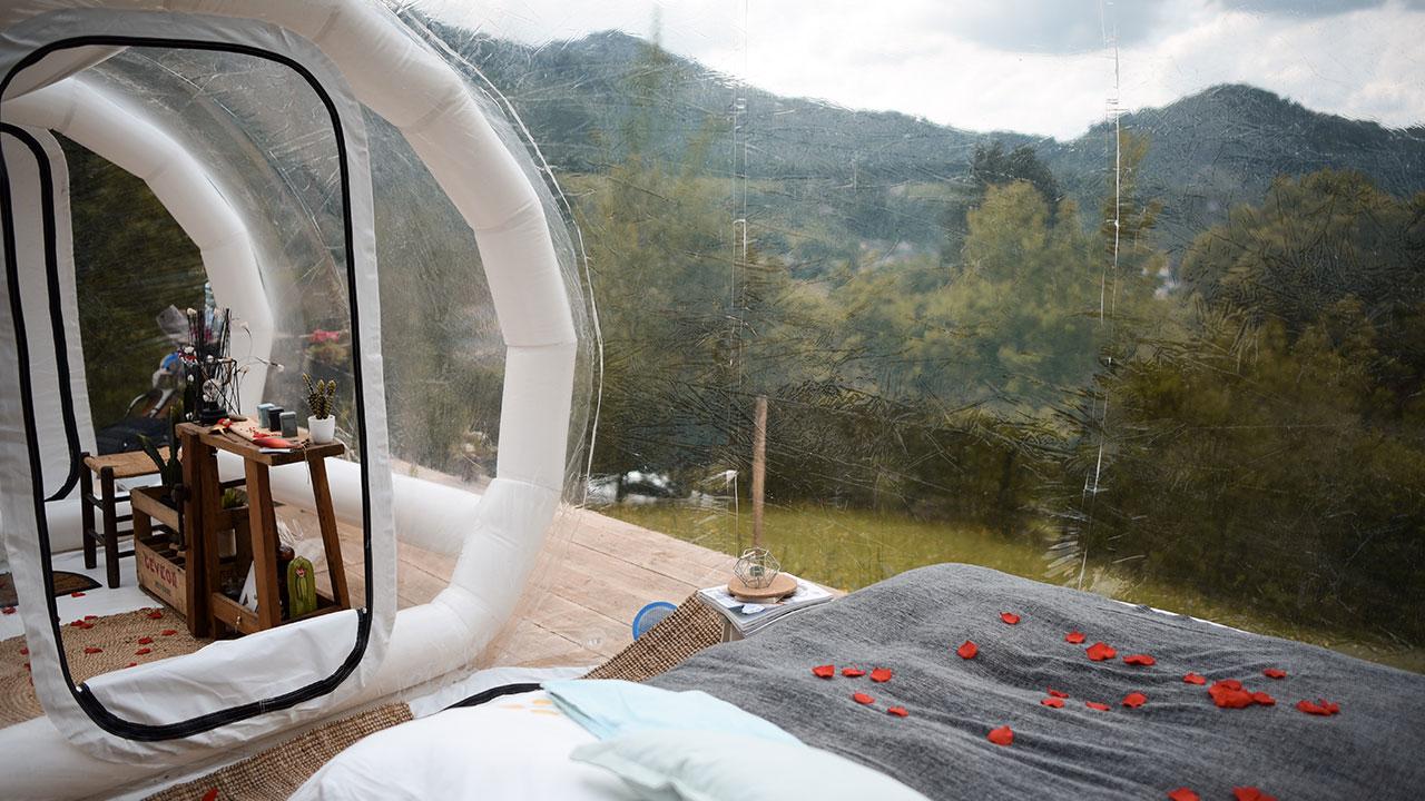 bulle transparente intérieur
