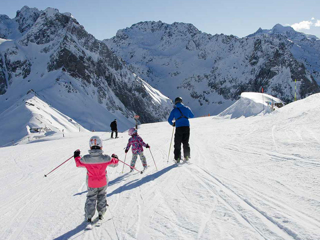 Skieurs Grand Tourmalet