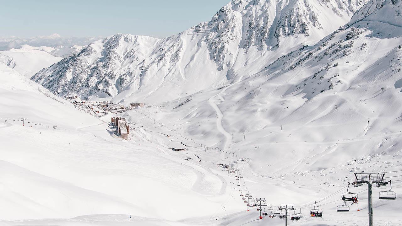 Domaine skiable piste panoramic